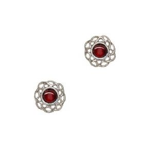 Celtic Birthstone Earrings January - Garnet 2012